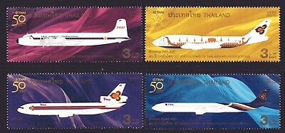 Thailand 2010 Thai Airways Anniversary set of 4 Fine Used