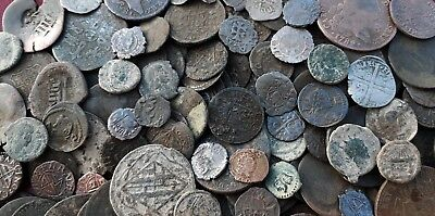 Lot of 220 silver coins, bronze from different periods Roman,Medieval,Colonial