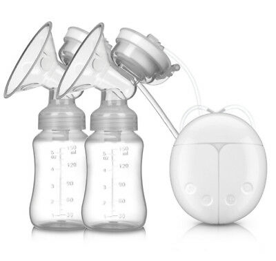 USB Electric Hand Free Double Breast Pump Automatic Intelligent Baby Feeder  D1