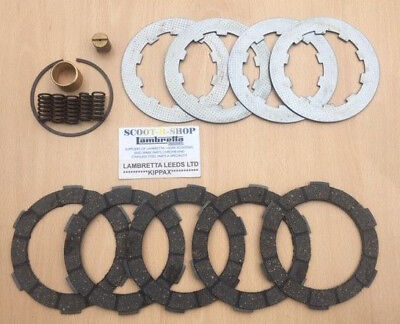 Lambretta Gp 5 Plate Clutch Kit Hard Compound Type.suitable For Std Crown . New