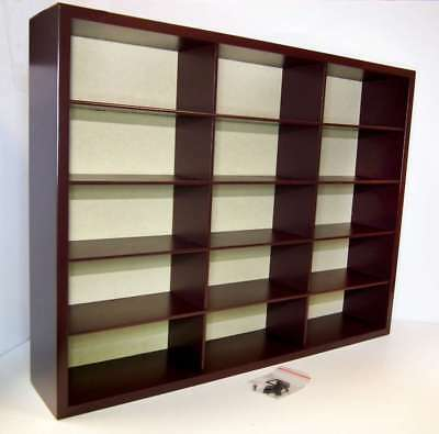 Wooden Display Case for 15 1:43 Model cars 41.5 X 5.5 X 32cm Wall Mounted