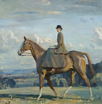 """23"""" x 24"""" Munnings Lowther Painting Print on Canvas Ready to Hang NEW!"""