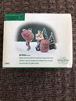 Dickens' Village Series Ale Mates Set Of 2 Department 56 #58417 New!!!