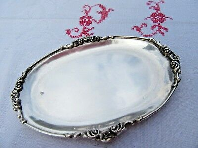 Sterling Silver Small Card Holder Tray