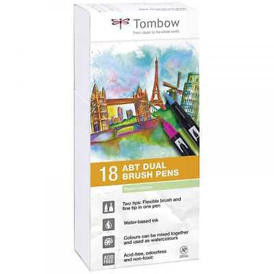 Tombow ABT Dual Brush Pens | Pastel Colours | Pack of 18