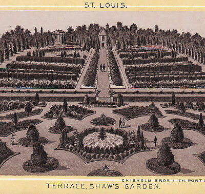 Shaw's Garden 1890's St Louis Missouri Botanical Garden Photo Lith Antique Card