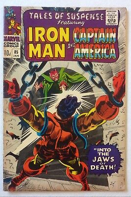 Tales Of Suspense 85 Iron Man Captain America Silver Age VG+/NF- Condition 1967