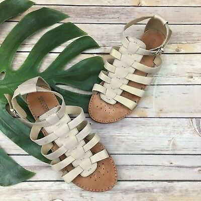 Flat Geox Size Respira Strappy 8 Gold Sandals Gladiator 39 Womens Leather eD9IWEY2H