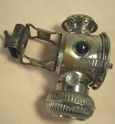 "1890's~""THE EVERLIT""~ANTIQUE BICYCLE LIGHT~KEROSENE LAMP by EDWARD MILLER & CO.~"