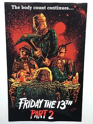 Friday the 13th Part 2 11x17 Movie Poster (1981)