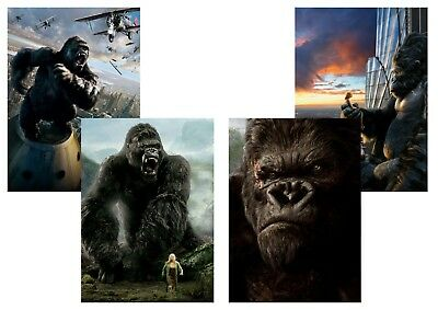 KING KONG: Peter Jackson,  A5 A4 A3 Textless 2005 Movie Posters
