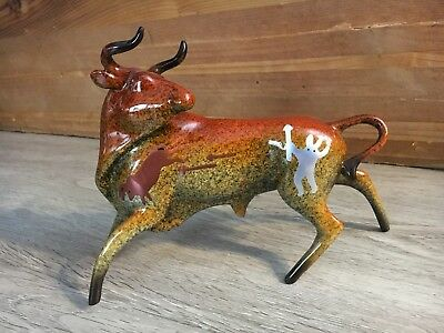 Primal Visions The Hunt Ceramic Bull