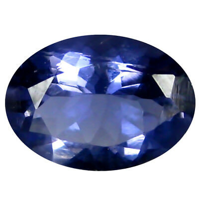 1.27 Ct AAA Incomparable Forme Ovale (9 X 7 mm) Iolite Naturel Libre