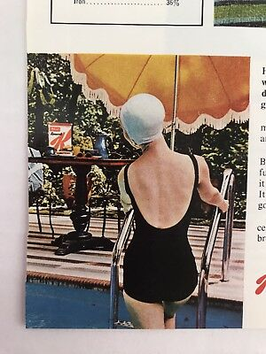 Kelloggs Special K Vtg 1964 Print Ad Girl In Bathing Suit And Cap
