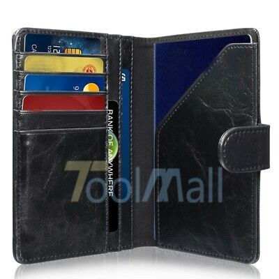 YOOMALL RFID Blocking PU Leather 9 Slot Passport Holder Wallet Card Cover US