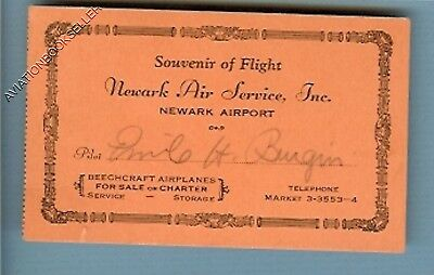 Emil H. Burgin: MADE ABORTED 1930 BRAZIL-U.S.A. NONSTOP FLIGHT SIGNED CARD!