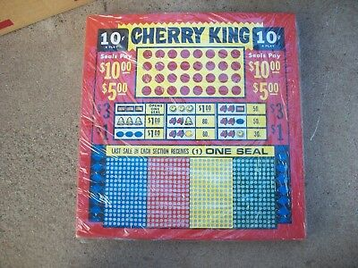 CHERRY KING  10 cent Punch Board New, sealed FREE shipping