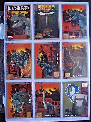 1993 Topps *jurassic Park Deluxe Gold* Complete  88 Card Base Set + 10 Art Cards