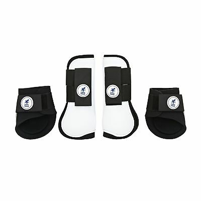 Derby House Set Of Pro Tendon And Unisex Horse Boot Fetlock Boots - White