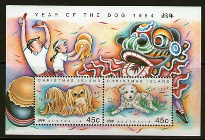 Christmas Island 1994 Year of the Dog Miniature Sheet Mint Unhinged