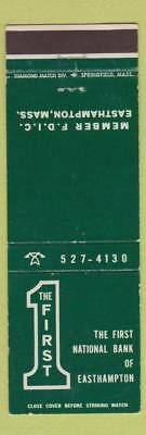 Matchbook Cover - First National Bank of Easthampton MA