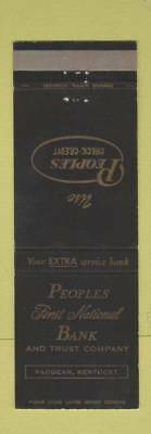 Matchbook Cover - Peoples First National Bank Paducah KY