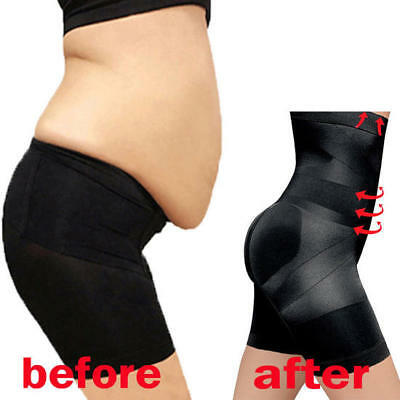 High Waist Pants Body Shaper Control Tummy Thigh Slimming Shapewear Underwear UK