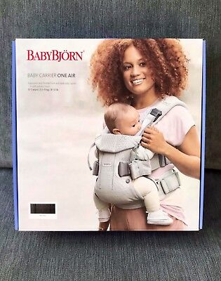 BABYBJÖRN Baby Carrier One Air, 3D Mesh, Anthracite (Black), 2018 Edition *NEW*