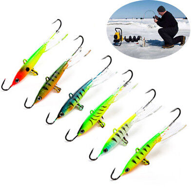 Quality Jigging Artificial Walleye Ice Fishing Lure Winter Bait Hook AD-Sharp