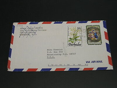Barbados 1992 airmail cover to USA *13378