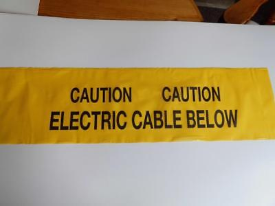 YELLOW WARNING TAPE chevron CAUTION ELECTRIC CABLE BELOW safety joke prank sign