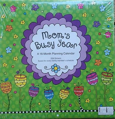 Mom's Busy Year 16 Month Planning Calendar 2019 with 258 Stickers