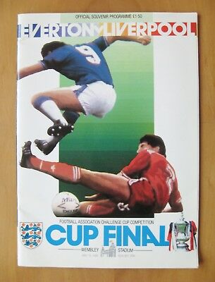 1986 FA Cup Final EVERTON v LIVERPOOL *Excellent Condition Football Programme*