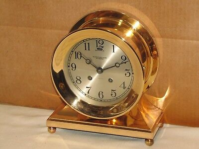 Chelsea Antique Ships Bell Clock~Commodore Model~6 In Dial~1917~Red Brass