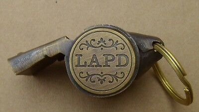 LAPD Police Whistle Solid Brass Works Great NEW FREE SHIPPING