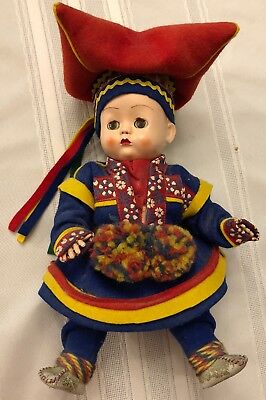 """Old Doll Finland Norway (Approx 55 years old) 10"""" Tall"""