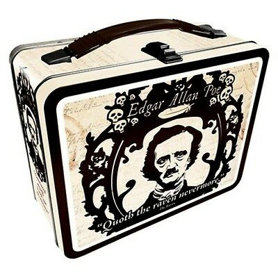 Edgar Allen Poe Metal Lunch Box Fun Tote - Nwt