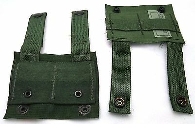 Lot of 4 US Military Army OD Green MOLLE II ALICE Clip Adapters 8465-01-465-2062