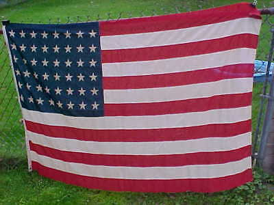 Orig WWII era 48 STAR US FLAG w Printed STARS 6 x 4 by Lexington