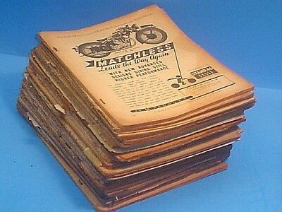 Huge Lot Of 1932-1939 Coverless The Motor Cycle Magazine Motorcycle