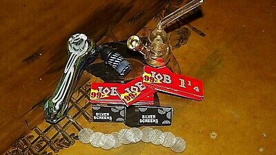 Glass Pipes Rolling Papers Screens Sneak A Toke Water Bong lot set kit Metal USA