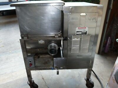 Hollymatic Model 180 Stainless Steel Commercial Meat Mixer Grinder 7.5hp Butcher