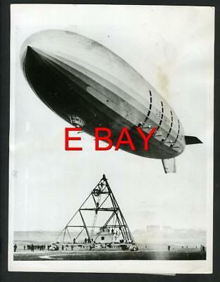 """USS MACON"" Sister Ship Of Ill Fated Akron Dirigible First Flight UK 1933 Press"