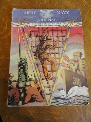 """1944 Army Naval Journal """"The United States At War"""" Magazine"""