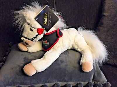 Wells Fargo Plush Horse MOLLIE White ROSE PARADE Pony WITH TAG