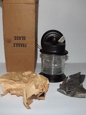 Vtg Thomas Industries MOE Outdoor Porch Light M8883 Jelly Jar Style Globe Black
