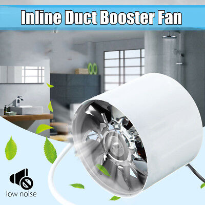 """4"""" Inch Duct Booster Inline Blower Vent Fan Cooling Exhaust Ducting Cooling Vent"""