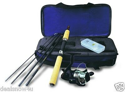 Fishing Kit Rod Spinning 6 Feet Rod Camping Hiking Set to Go Camping For Travel