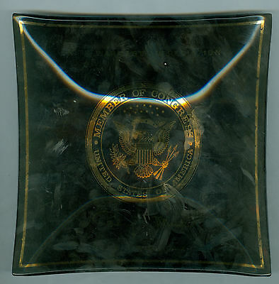 1965-1977 Hawaii 2nd Congressional Patsy T. Mink Congress Woman Glass Tray