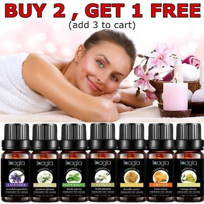 Aromatherapy 10ml Essential Oils Natural Diffuser Essential Oil 37 Fragrances UK